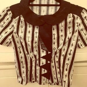 Goth Steampunk blouse